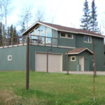 Fairbanks house with green steel siding