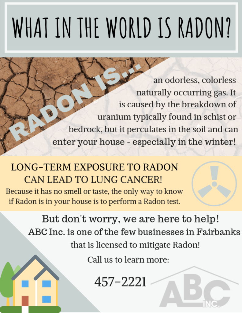 Infographic highlighting the dangers of radon and how to mitigate it
