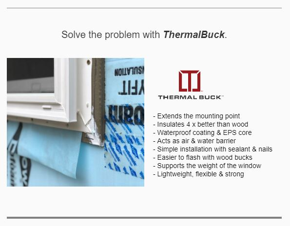 Installing a new window using thermal buck